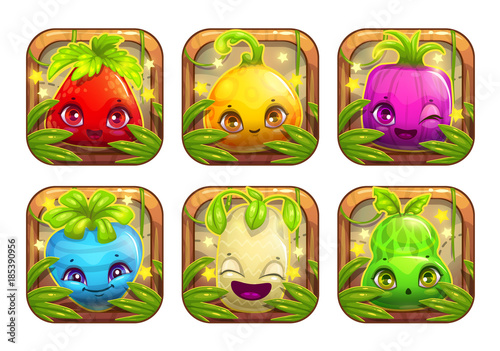 App icons wth cute cartoon plant monsters.