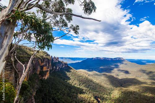 Poster Oceanië blue mountain national park in Australia