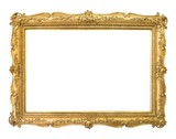 Golden frame for paintings, mirrors or photos - 185400595