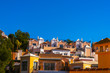 typical town architecture in Andalusia, characteristic building facades, tourist place