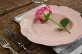 Elegance table setting on table - 185419746