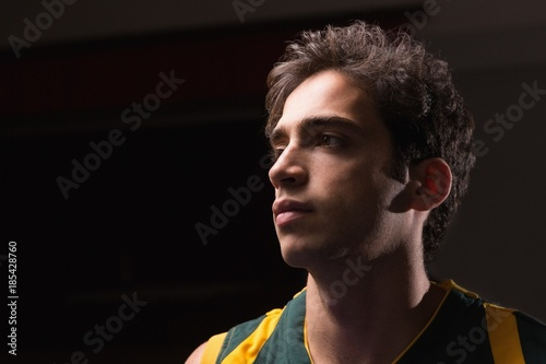 Fotobehang Basketbal Basketball player standing in the court