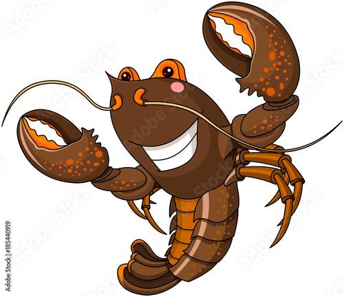 Deurstickers Sprookjeswereld Lobster