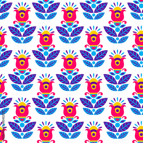 Seamless geometric ethnic  pattern. Fashion mexican, navajo or aztec, native american ornament.  Colored vector design element for frame and border, textile, fabric or paper print. Vector background