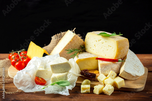 cheese on the table - 185453160