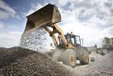 Excavator moving sand - 185457164