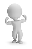 3d small people - shows muscles - 185478757