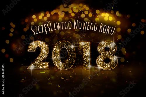 Fototapeta Szczęśliwego Nowego Roku 2018