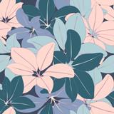 Bright Jungle Seamless Vector Pattern - 185491178