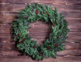 beautiful Christmas wreath - 185491326