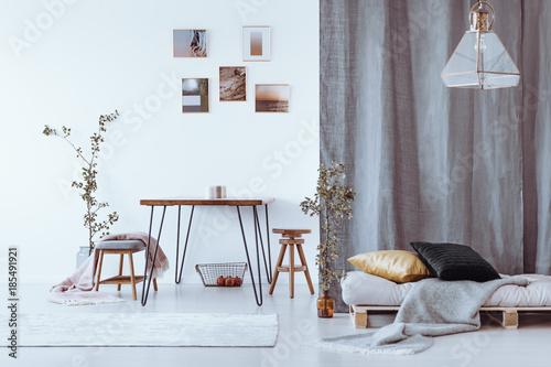 Grey Multifunctional Dining Room