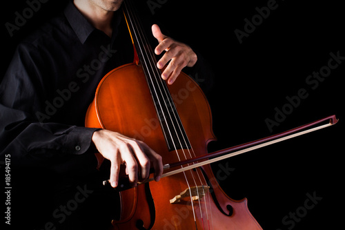 Man playing on cello - 185494175