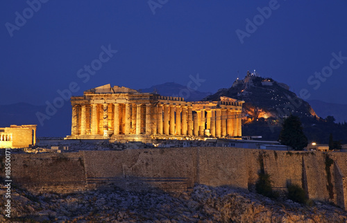 Fotobehang Athene Parthenon at Acropolis of Athens. Greece