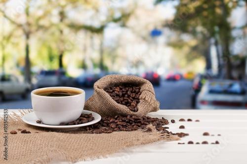 Foto op Aluminium Zalm Coffee.