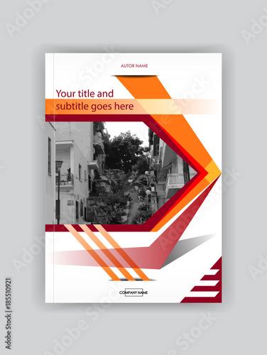 Red Orange Cover Design Booklet Template Book Magazine Flyer