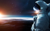 Astronaut in outer space. Spacewalk. Elements of this image furnished by NASA - 185511140