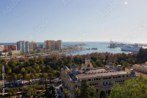 Fotobehang Parijs Malaga. Panoramic view. Malaga, Costa del Sol, Andalusia, Spain. Picture taken – 17 december 2017.