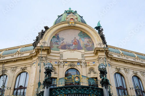 Foto op Canvas Praag Prague, Chech republic - November, 17, 2017: district in a center of Prague