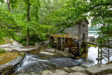 Fototapety Old Mill - A wide-angle summer view of Grist Mill in Stone Mountain State Park, Atlanta, Georgia, USA.