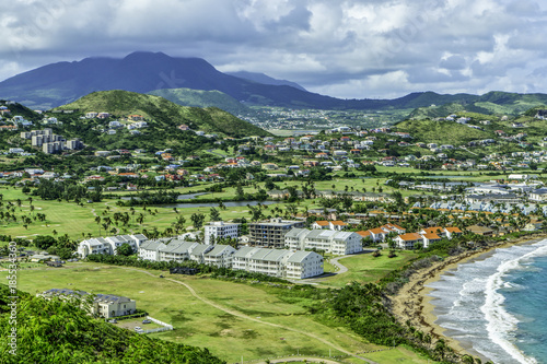 Staande foto Pistache Hotels and resorts in St Kitts, Eastern Caribbean