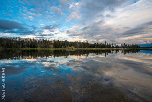 Water reflection at Yellowstone National Park
