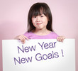 White paper with new year new goal