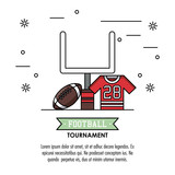 American football tournament infographic icon vector illustration graphic design - 185543959