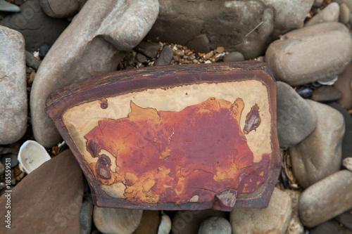 In de dag Stenen rocks on the shore of the sea of Azov