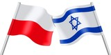 Flags. Poland and Israel