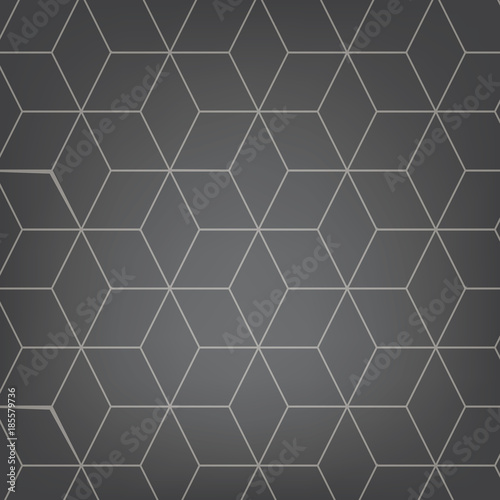 Vector abstract light grey background. Necker Cube seamless pattern. Geometric texture. Modern soft colored fond. - 185579736