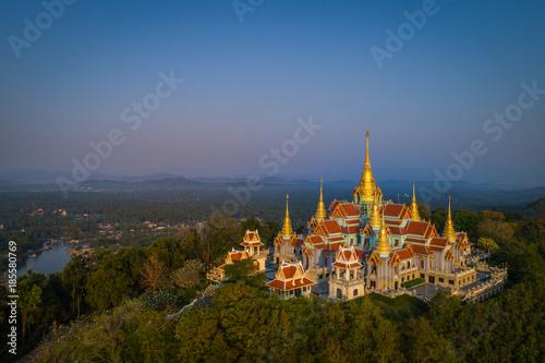 Aluminium Thailand Wat Tang Sai. Beautiful temple on the top of Thongchai mountain, Prachuap Khirikhan, Thailand.