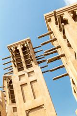 Wind towers at Madinat Jumeirah in Dubai, UAE