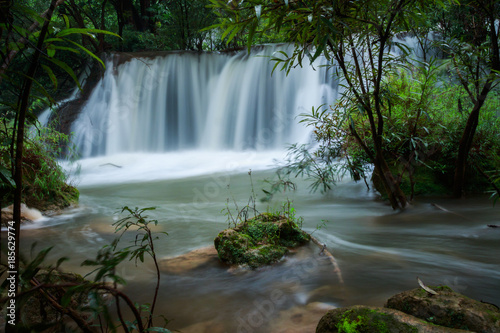 Aluminium Thailand waterfall in the forest of thailand named tee lor su waterfall