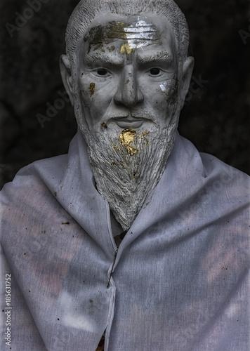 Aluminium Thailand Statue of a forest monk Chiang Mai Thailand