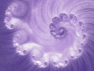 Ultra Violet Trendy Color of the year 2018. Horizontal Purple Luxe Glossy Vortex Spiral