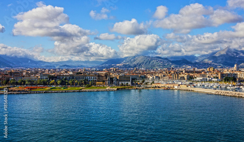 Fotobehang Palermo Palermo, Sicily, Italy. Seafront view