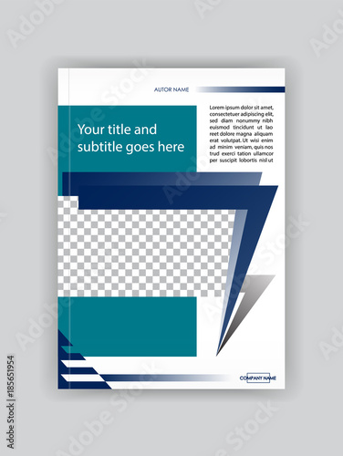 Cover Design Booklet Template Book Magazine Flyer Banner