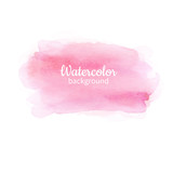 Watercolor pink abstract hand painted background. Watercolor vec - 185654338