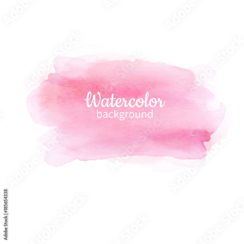 Watercolor pink abstract hand painted background. Watercolor vec