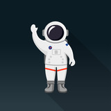 Astronaut Flat Design Icon - 185664319