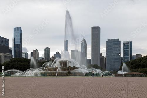 Poster Chicago Buckingham Fountain in Chicago