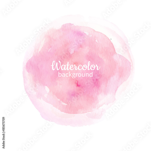 Plakat Watercolor pink abstract hand painted background. Watercolor vec