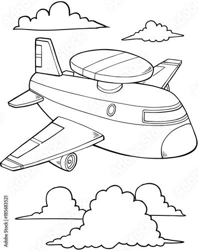Papiers peints Cartoon draw Jet Aircraft Vector Illustration Art