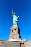 Statue of Liberty New York city USA against clear blue sky - 185684169