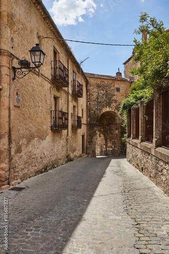 Keuken foto achterwand Smal steegje Sepulveda town in Segovia province, Spain