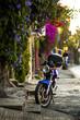 Old motorcycle on the street of Cuernavaca