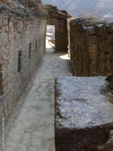 Keuken foto achterwand Smal steegje Balade dans Ollantaytambo site Incas