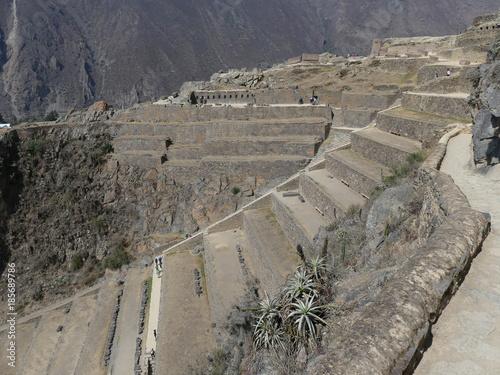 Staande foto Grijs Balade dans Ollantaytambo site Incas