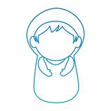 cute virgin mary character vector illustration design - 185698776