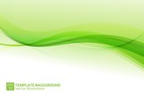 Abstract Graphic Wave Background Template Vector
